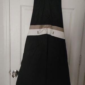 Cute black and two tone waist halter dress
